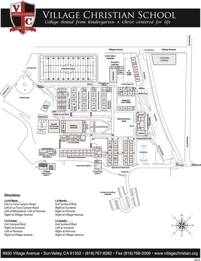 Private School In Sun Valley Campus Map Directions